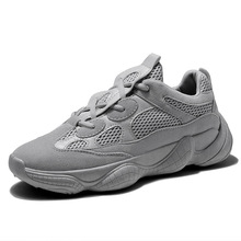 цена на Novel and comfortable lightweight hot mesh men's sports shoes couple models wear-resistant anti-skid front lace-up casual shoes