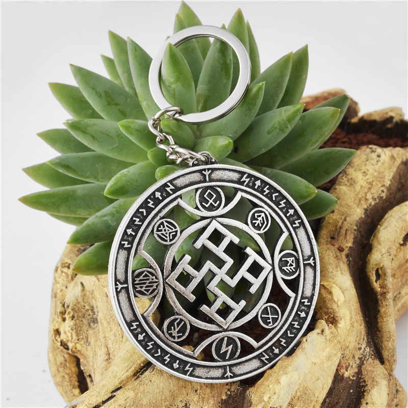 Słowiańska siła duchowa breloczek Vintage słowiańska siła duchowa Amulet brelok do kluczyków do samochodu przyjaciela