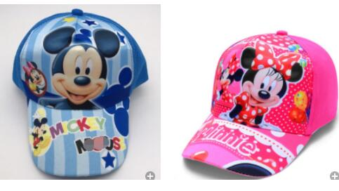 12 pcs Mixed Cartoon minnie mickey Adjustable Fashion Sun Hat Mario Casual Cosplay Baseball Cap Child