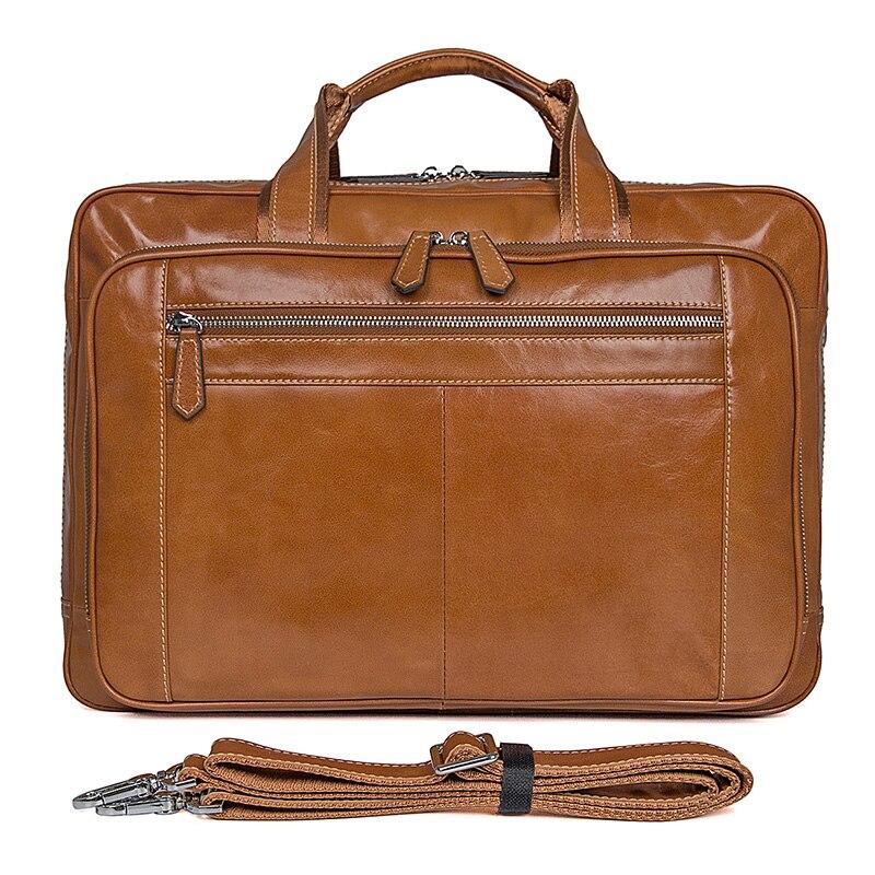 Genuine Leather Handbags Men Briefcase Laptop Bag brand leather luxury handbag 2019 Classic Unisex Business Bag