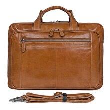 Genuine Leather Handbags Men Briefcase Laptop Bag brand leather luxury handbag 2018 Classic Unisex Business Bag