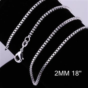 Conscientious Cool 1pcs 2mm 16/18/20/22/24 Inch 925 Silverbox Link Chain Lobster Clasp Necklace Wholesale Fashion Jewelry Cn009 Neither Too Hard Nor Too Soft