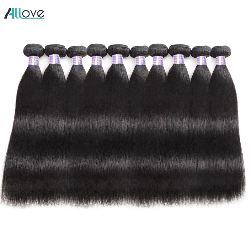 Wholesale Price Straight Hair Bundles 10pcs/Lot Brazilian Hair Weave Bundles Free Shipping Non Remy 100% Human Hair Extensions