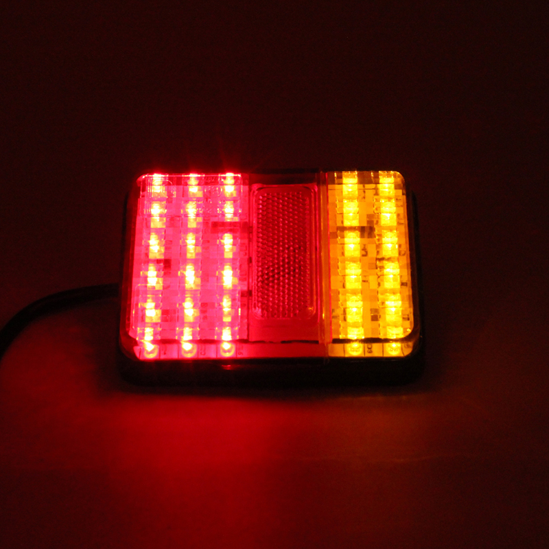 1 Pair 30 LED Car Styling Tail Light Lamp 12V Tail Light For Truck  Bus Van Truck Trailer Stop Rear Tail Indicator 12x9x2.5cm 1 pair 24v 36 led trailer car truck led tail light lamp auto rear light tail light