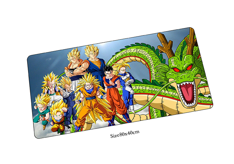Dragon Ball mouse pad big pad to mouse notbook computer mousepad 80x40cm gaming padmouse gamer to laptop 80x40cm mouse mat