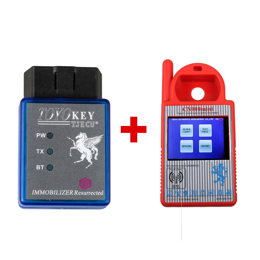 Newest Mini CN900 Transponder Key Programmer Plus TOYO Key OBD II Key Pro for 4C 46 4D 48 G H Chips