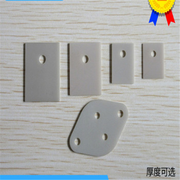To-3p/to-3 gasket aluminum nitride ceramic sheet TO-220/247/264 aluminum nitride ceramic sheet AIN with holes image