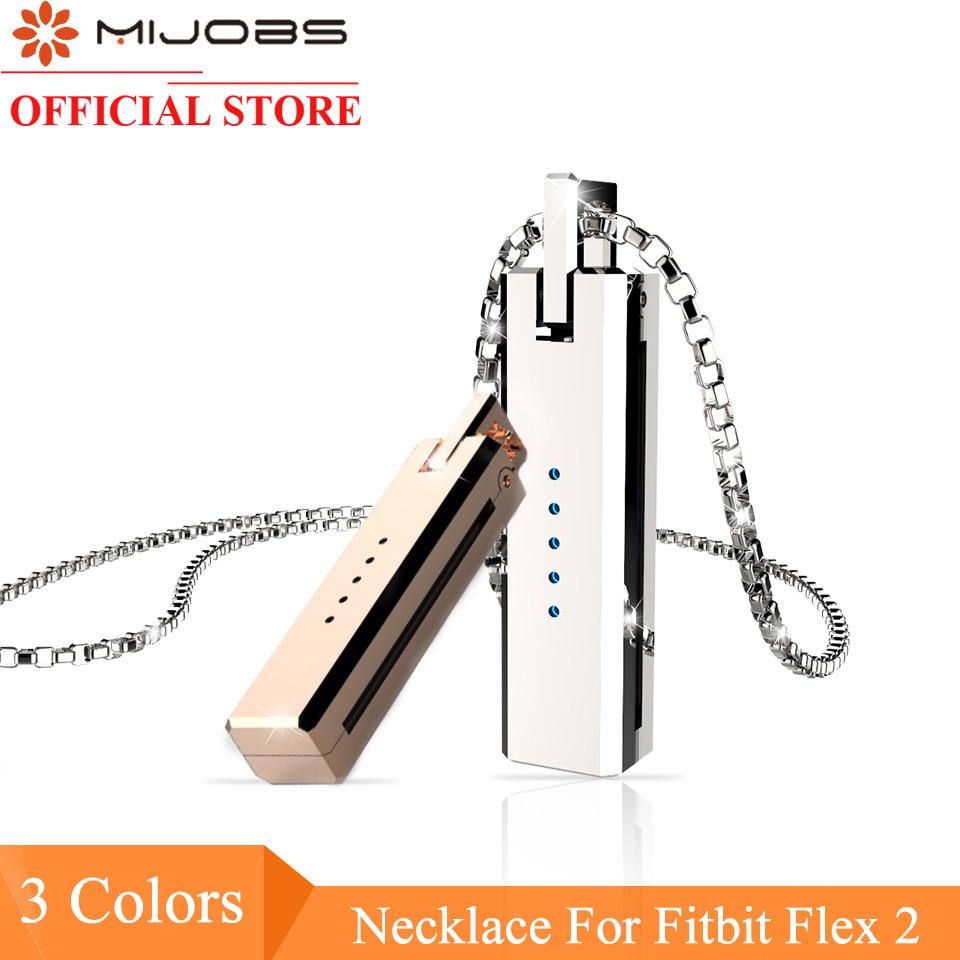 Original MIJOBS Moonlight Treasure Box Anhänger für Fitbit Flex 2 Metall Anhänger edelstahl Halskette