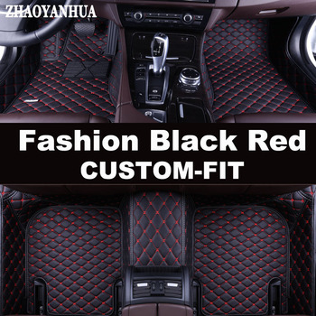 ZHAOYANHUA Special custom made car floor mats for Ford Mondeo Ecosport Explorer Focus Fiesta leather Anti-slip carpet liners image