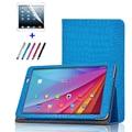 Крокодил Зерна Шаблон Фолио Стенд Кожаный PU Защитный Чехол Чехол Для Huawei Honor Примечание T1 10 T1-A21W T1-A21L T1-A23L Tablet