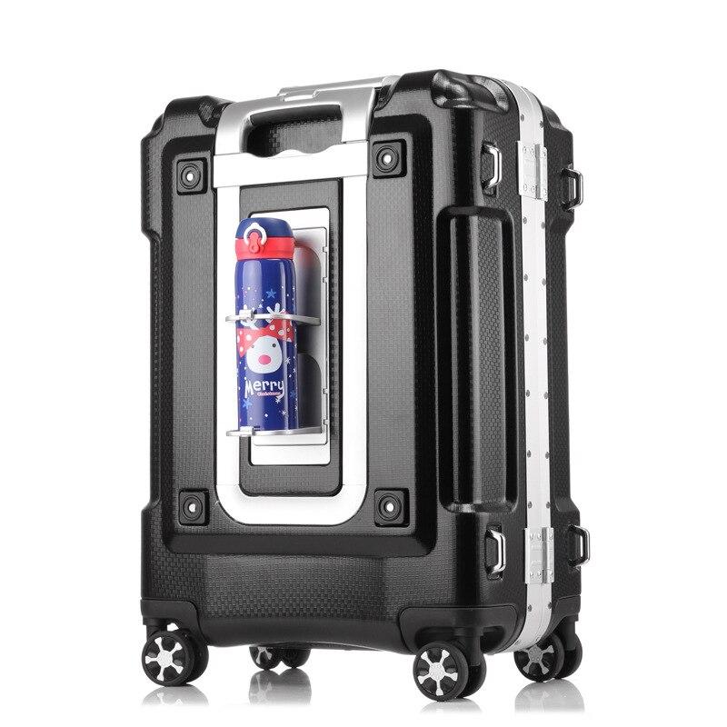 Nouveau cadre en aluminium + bagage ABS 20/24/29 pouces taille haute qualité bagage roulant Spinner marque voyage TSA serrure valise sur roues