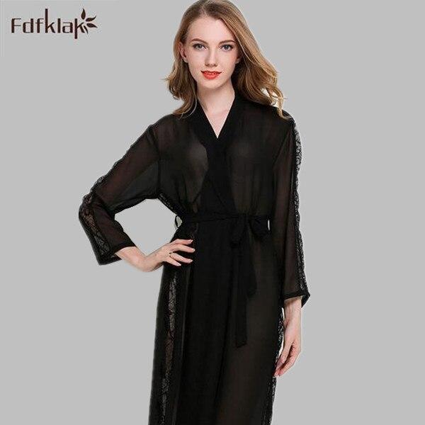 Europäischen stil satinsleepwear robe sexy damen lange spitze ...