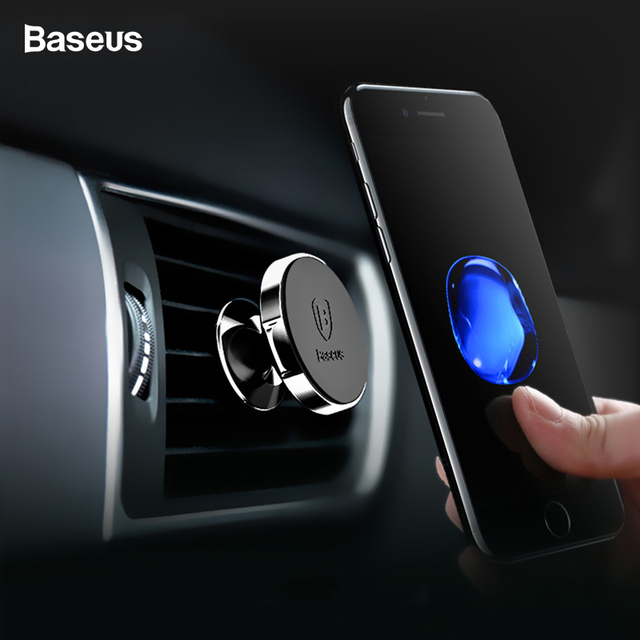 Baseus Magnetic Car Holder For iPhone XS Max X 8 Samsung S9 S8 Air Vent Mount Phone Holder Soporte Movil Car Phone Holder Stand