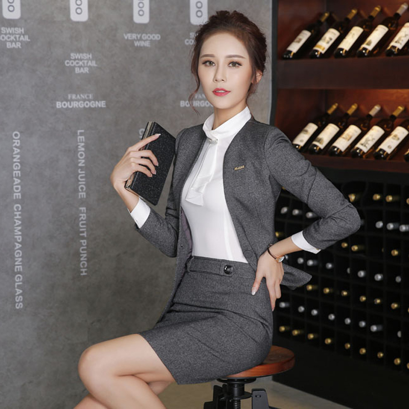 Spring Slim Work Wear Women Trouser Jacket Ol Fashion Formal Blazer