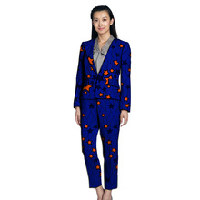 African clothes women print suit blazers with trousers Ankara fashion pant suits customized wedding female formal outfits