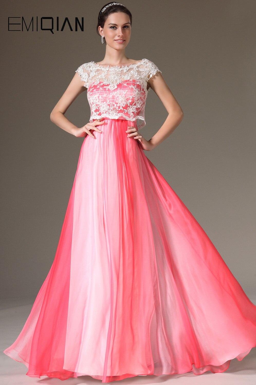 ツ)_/¯Free Shipping New Cap Sleeves Chiffon Evening Gowns Formal ...
