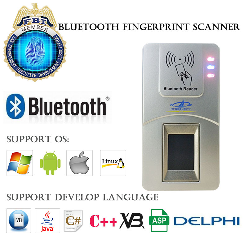 Fffbi USB Bluetooth сканер отпечатков пальцев для Windows, Linux, Android, IOS, Бесплатный SDK Поддержка Java VB. Net ASP C + + C # Delphi