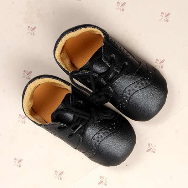 אופנה עור מפוצל בריטי סגנון תינוק נעליים עבור 0-12months ילדי נעליים עם אוויר חור Antiskip יוניסקס הנעלה ראשון הליכונים