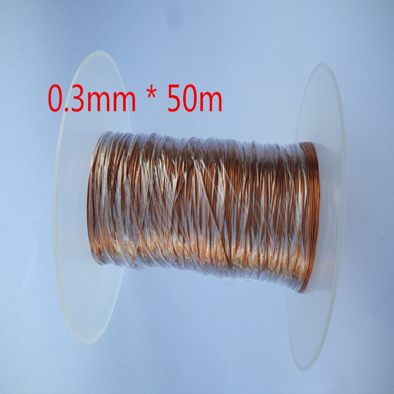 50M /PC 0.3mm QA-1-155 polyurethane enameled copper wire enameled 0 1mm 1000m pc length qa 1 155 polyurethane enameled wire copper wire enameled repair