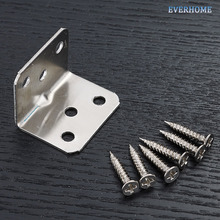 1,5 мм толщина 90 градусов угловая Скоба Толстая пластина из нержавеющей стали угловой кронштейн