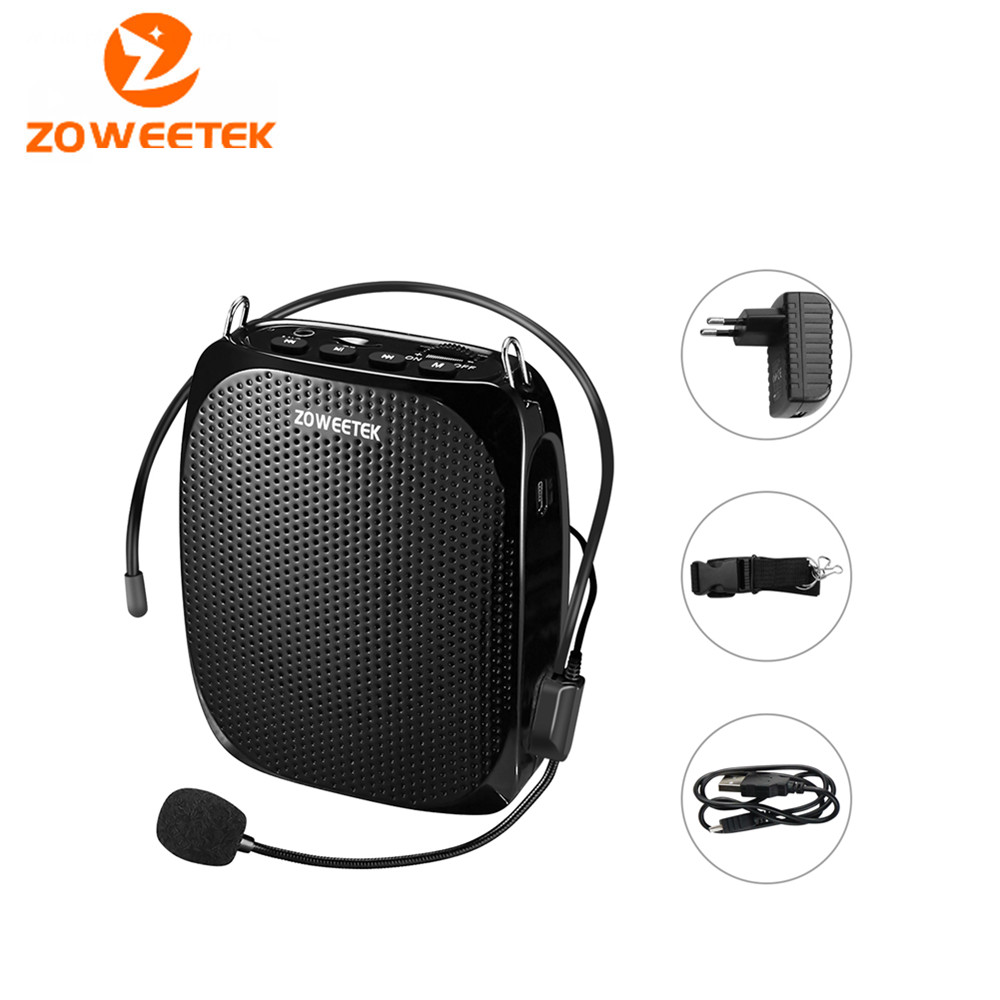 Genuine Zoweetek ZW 258 mini portable Stereo Speaker Voice Amplifier Loudspeaker Tool Device For Teaching Tour Guide Sale Speech