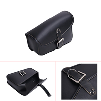 Black Faux Leather Right Side Saddlebag with Mounting Straps For Harley Sportster XL 883 XL 1200 XL883 XL1200 Saddle Bag #58204