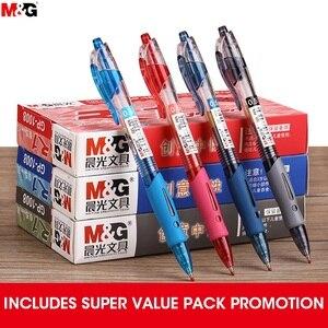 Image 2 - Ручка гелевая M & G NO.1 выдвижная, 0,5 мм, черная, синяя, красная