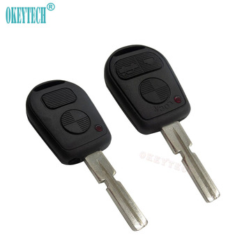 OkeyTech 3 Button Remote auto Key Shell For BMW e90 E31 E32 e34 e36 e38 e39 e46 e60 Z3 x5 e53 Uncut blade smart car Key Fob Case image