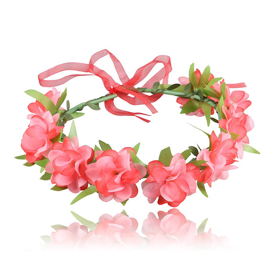 Gils Princess Garland Kids Moana Flower Leaf Wreath Children Princess Dress Up Accessory Cute Wedding Flower Girl Headdress