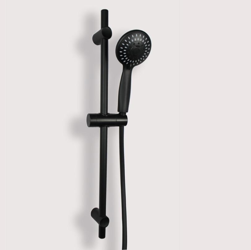 Ванная комната Матовый Черный Душ раздвижной бар душевая головка держатель ручной душ и шланг душевое оборудование