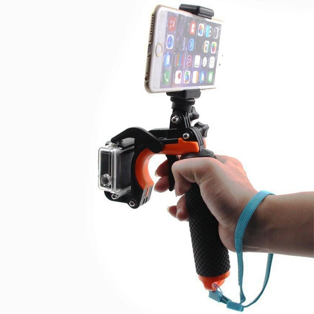Universal Hand Grip Floaty Handle w/ Pistol Trigger Shutter Stabilizer Kit for GoPro Hero 5 4 Xiaomi Yi 4K Eken H9r Accessories