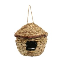 Hot Straw Bird Cages Nests Birdhouse for Parrot Hamster Small Animal Cage Birds Breeding Nest House Home Hanging Decor Ornaments