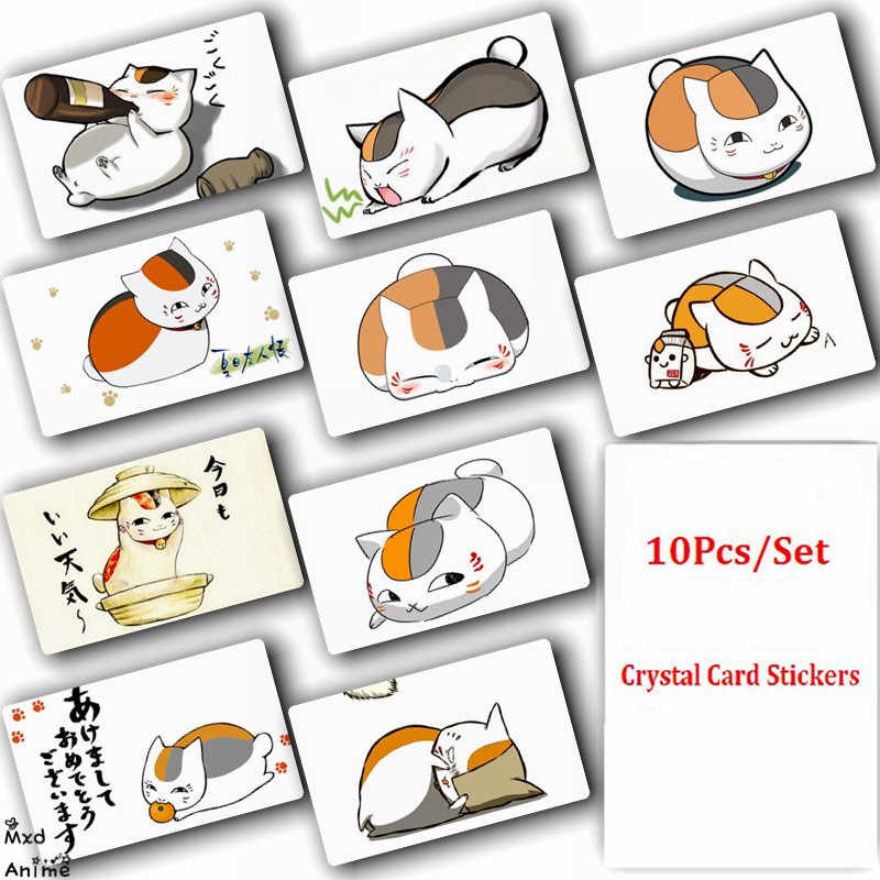 10Pcs/Set Natsume Yuujinchou Anime Crystal Card Stickers Fashion Poster Cards