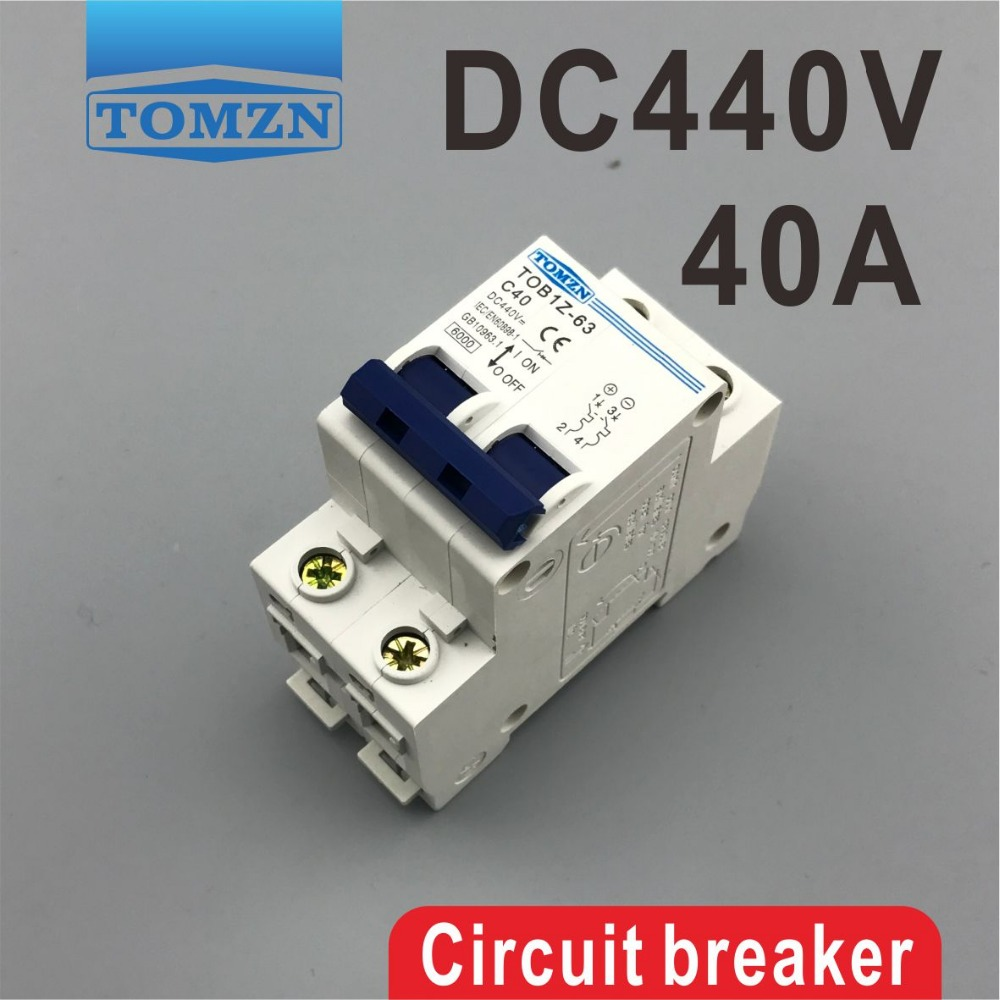 2P 40A DC 440V Circuit breaker MCB dhl ems 4 sets new for sch neider ic65h dc 2p c4a breaker