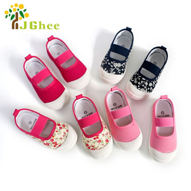 J Ghee 2018 Spring Autumn Baby Girl Shoes Kids Canvas Shoes Children's Casual Sneakers Candy Color Flowers For Girls EU 21-30 планшет apple ipad mini 4 128gb wi fi silver mk9p2ru a