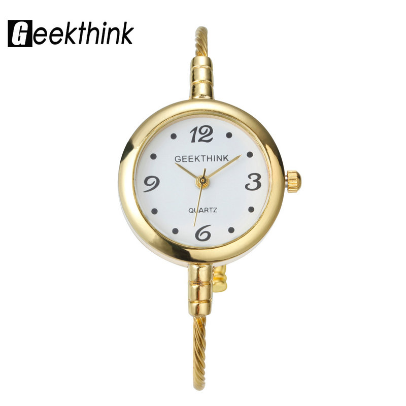 GEEKTHINK Unique Fashion Brand Quartz Watch Women Bracelet Ladies Rose Gold Wristwatch female Simple Ring steel band casual tshing ray fashion women rose gold mirror cat eye sunglasses ladies twin beams brand designer cateye sun glasses for female male