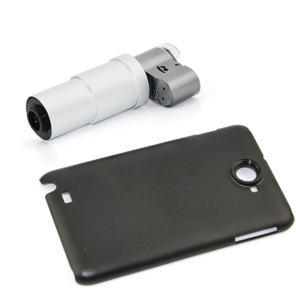 Phone Lens Kit LED Jewelry 200X Lens Microscope Magnifying Glass With Case Camera Lenses For iPhone 4 5 5C 5S SE 6 6S 7 Plus