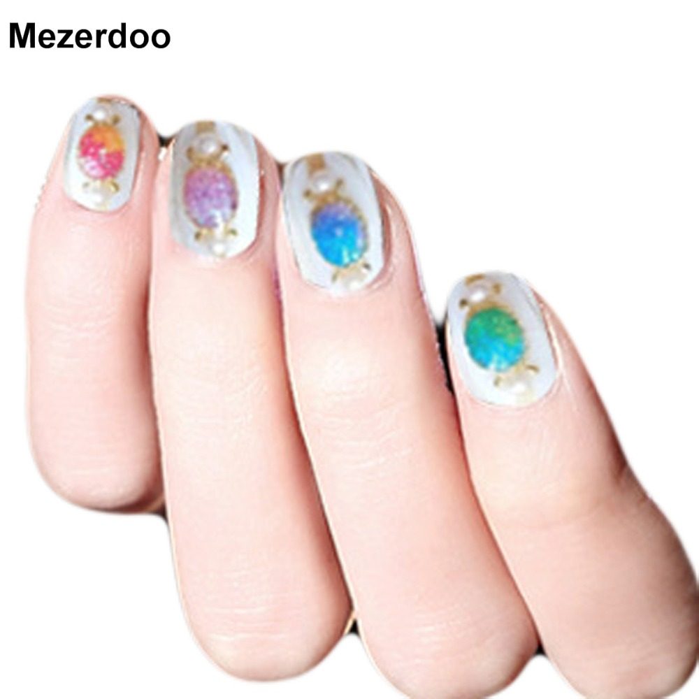 Nail Art Glitter Powder Decorations Candy Coral Stone Design Diy Uv