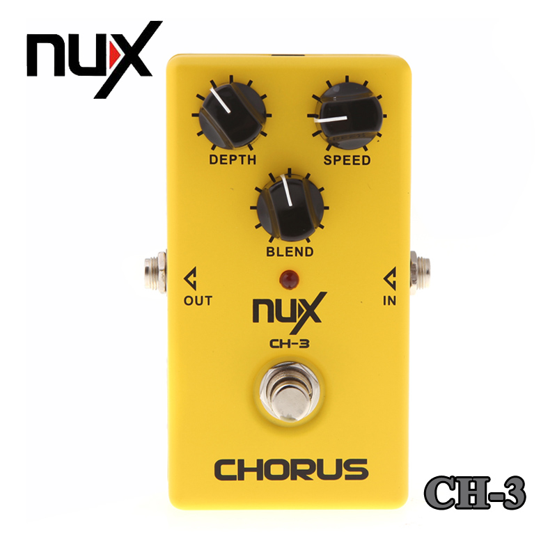NUX CH-3 Chorus Electric Guitar Effect Pedal Fully Analog Circuit True Bypass Yellow Free Shipping mooer mini ensemble king electric guitar effect pedal true bypass pure analog chorus sound