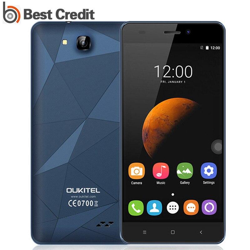 "Цена за Бесплатный Подарок 5 ""Oukitel C3 Смартфон 3 Г Android 6.0 MT6580 Quad Core 5MP камера 1 Г RAM 8 Г ROM Dual SIM Oukitel C3 Мобильный телефон"