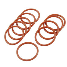 10 Pcs 30mm X 2.5mm Silicone O Ring Seal Gasket Ring Dark Red(China)