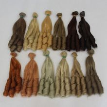 Dropshipping Promotion 20*100cm DIY Mini Tresses Doll Wig High-Temperature Material  Curly Hair For BJD Accessories
