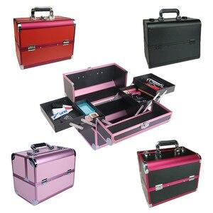 Image 5 - נייד תיק קוסמטי מזוודות איפור יופי מקצועי רב פונקצית לקוסמטיקה קעקוע גבות מורה מניקור מקרה