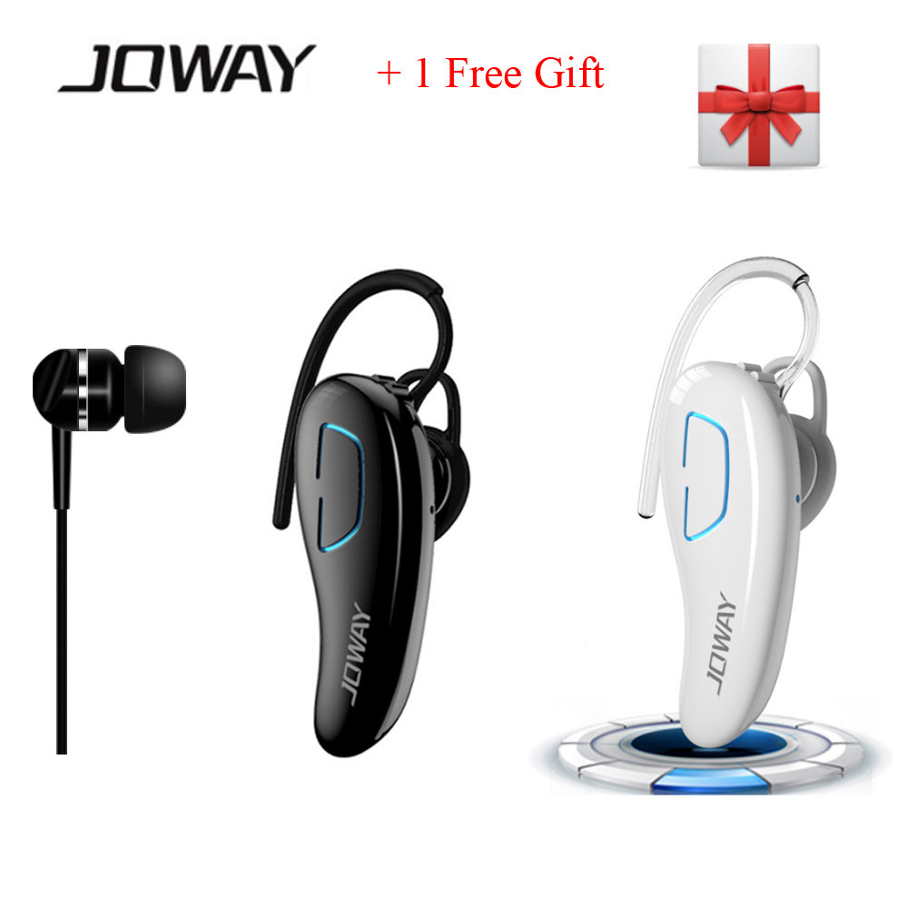Joway H02 Bluetooth Cordless Headphones Stereo Handsfree Headset with Mic HD CVC6.0 + In-ear Earphone Cable for Mobile Phone PC 100% original bluedio ht bluetooth headset with hd mic headband style bluetooth headphones for game