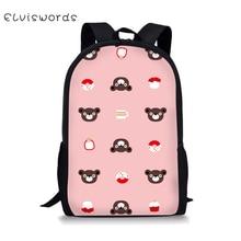 ELVISWORDS Backpack Preppy Bookbag Hiking Cute Unique Children Kids Bagpack Junior Canvas Trendy 2019 new