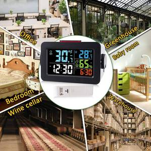 Image 5 - שעון מעורר חם אלחוטי דיגיטלי מדדי לחות מדחום אלחוטי טמפרטורה לחות צג עם תאורה אחורית T
