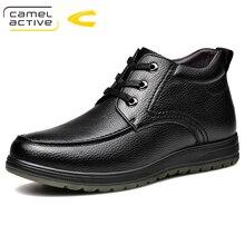 Camel Active nowe skórzane buty męskie jesień zima botki moda obuwie wiązane buty mężczyźni konna śniegowce wysokiej jakości