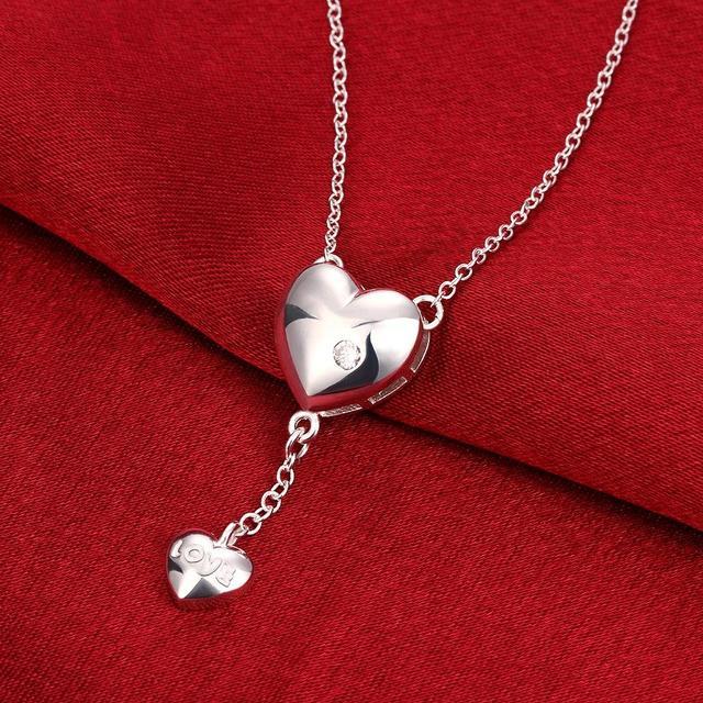 Женское Ожерелье с кулоном в виде сердца кристаллами