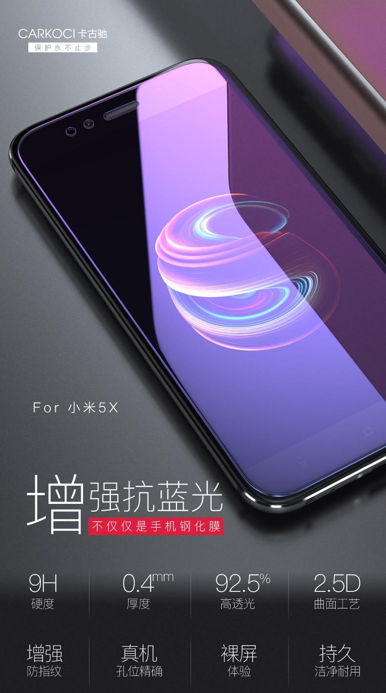 Cafele Mobile Screen Protectors For Xiaomi Mi A1 Tempered Glass Original Redmi Note 5 Carkoci New 5x Full Protector Film