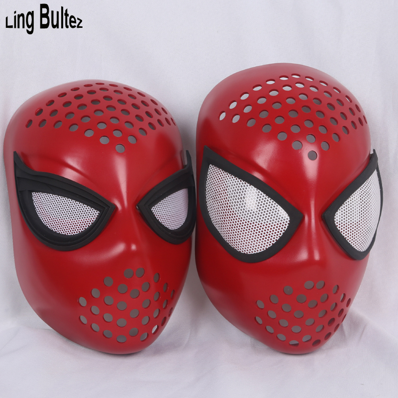 Ling Bultez High Quality Unbreakable Flexiable Newest Spiderman Faceshell With Lens Spiderman Face Mask